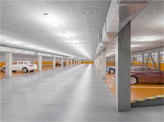 LED in parkeergarage