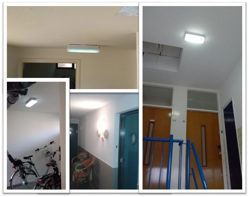 Portiekverlichting collage groot